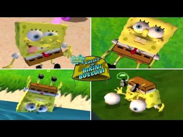 SpongeBob Battle for Bikini Bottom All Deaths Animations (PS2)