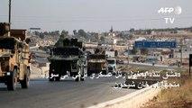 دمشق تندّد بدخول رتل عسكري تركي الى سوريا متجهاً إلى خان شيخون