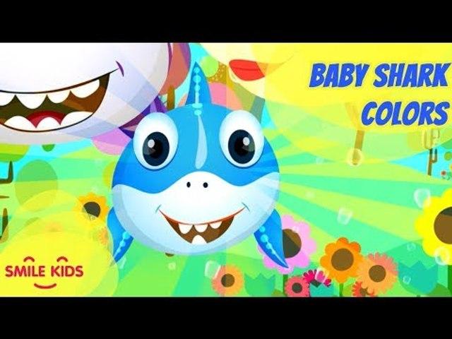 Baby Shark Learn Colors | Baby Shark Mid Autumn Festival | Nursery Rhymes & Cartoon Songs for Kids