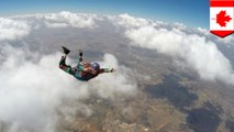 Woman survives 5,000 foot fall after parachute fail