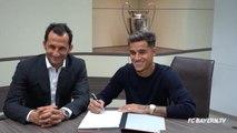 Transferts - Les images de la signature de Coutinho au Bayern