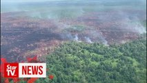 Miri Fire and Rescue Department put out  forest fires the size of 654 football fields