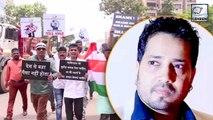 Protest Against Mika Singh In Mumbai