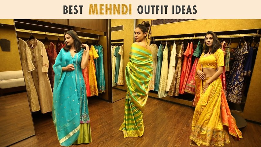 Celebrity-Inspired Mehndi Outfit Ideas That Aren't Red Or Pink | Ft. Palak Shah | Ekaya Banaras