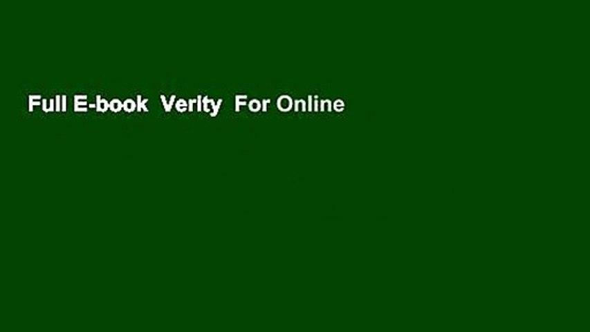 Full E-book  Verity  For Online