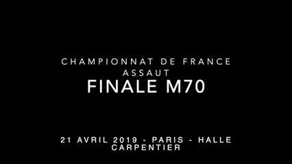 ASSAUT Finale  France 2019 - M70 - DESARME Pierre-Ley / MAYOUF Smaël