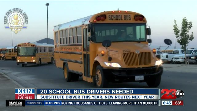 Kern Back in Business: Kern High School District looking for 20 new school bus drivers