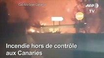 """""""Drame environnemental"""" à Grande Canarie, ravagée par le feu"""