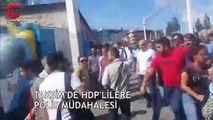 Taksim'de HDP'lilere polis müdahalesi