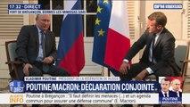 """Poutine à Brégançon: """"Il nous faut maintenant rebâtir un ordre en Libye"""", assure Emmanuel Macron"""