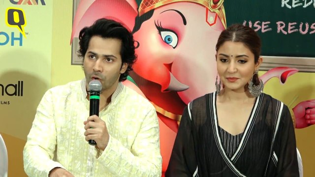 Varun Dhawan and Anushka Sharma Bat for a Green Ganesh Chaturthi
