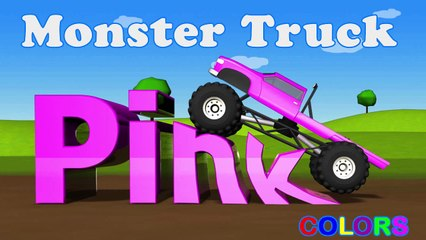 Learning Kids - Children lesson -Color Lessons For Kids With Monster Trucks - Learning Kids - Children Education - Pink Color - Monster Trucks - Learning Kids - Children Education -===)(