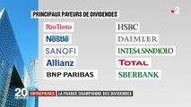 Entreprises : la France championne des dividendes