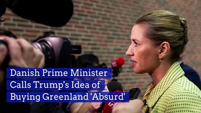 Danish Prime Minister Calls Trump's Idea of Buying Greenland 'Absurd'