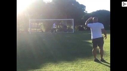 Roberto Carlos repite su gol imposible que rompió las leyes de la física