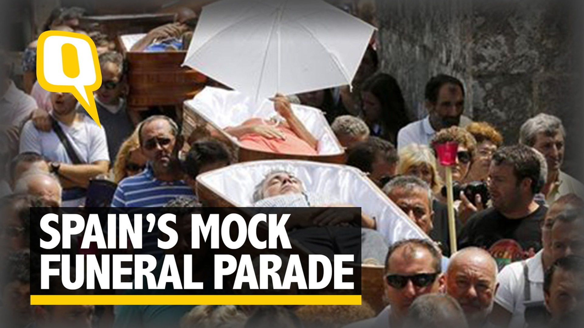 Living Dead? Pilgrims Carried in Coffins During Procession