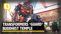 Optimus Prime and Bumblebee 'Guard' This Buddhist Temple | The Quint