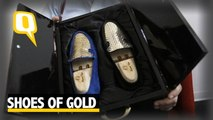 The Quint: This Designer from Italy Brings to You Shoes Made of Gold