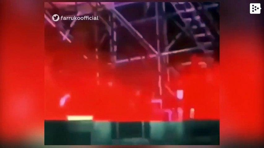 El reguetonero Farruko se queda sin peluquín en pleno concierto