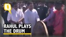 Rahul Gandhi and Siddaramaiah Beat Traditional Drums at Yellamma Temple in Belagavi