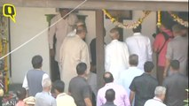 Former President Pranab Mukherjee and RSS Chief Mohan Bhagwat Arrive at RSS founder KB Hedgewar's birthplace