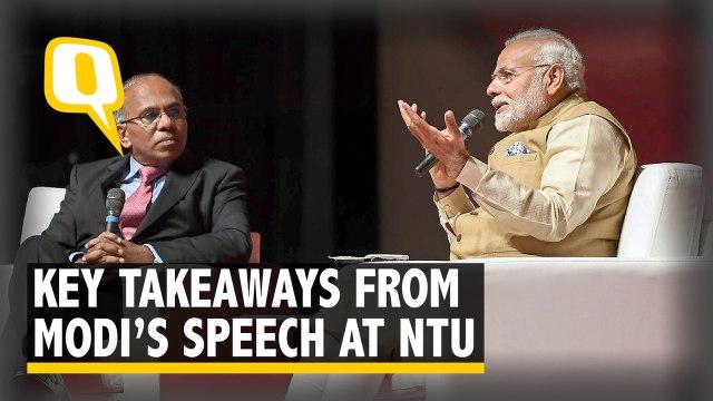 Technology Strengthens Creativity: PM Modi at NTU, Singapore