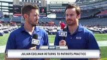 Julian Edelman Returns To Practice; Patriots WR Roster Projetctions