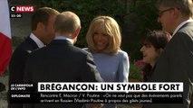Brigitte Macron n'a plus son écharpe pour recevoir Vladimir Poutine