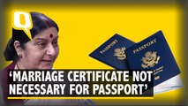 Marriage Certificate Not Required to Issue Passport: Sushma Swaraj
