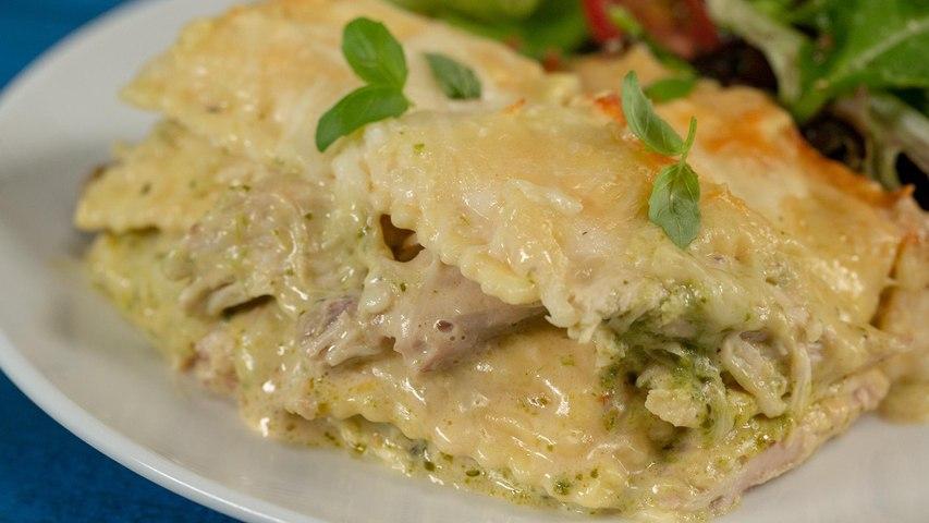How to Make Creamy Chicken Ravioli Lasagna
