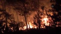 Orman yangını, ekiplerin müdahalesi ile yerleşim merkezlerinden uzaklaştırıldı