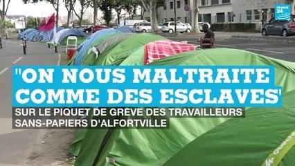 """Travailleurs sans-papiers d'Alfortville : """"On nous maltraite comme des esclaves"""""""
