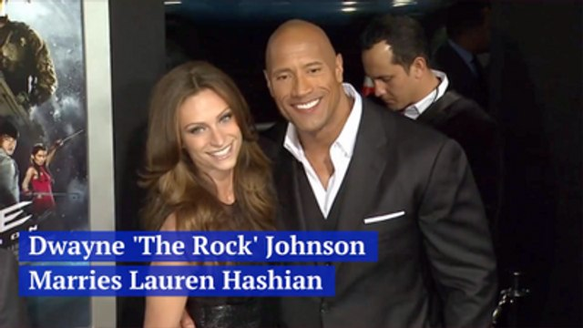 Dwayne Johnson Is Now A Married Man