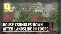 House Crumbles down the Slope After Landslide in Coorg, Karnataka