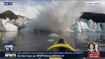 En Alaska, deux kayakistes assistent à l'effondrement d'un glacier