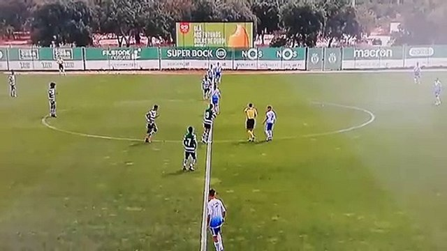 Sporting U-15 team scores a hilarious early goal without touching the ball!