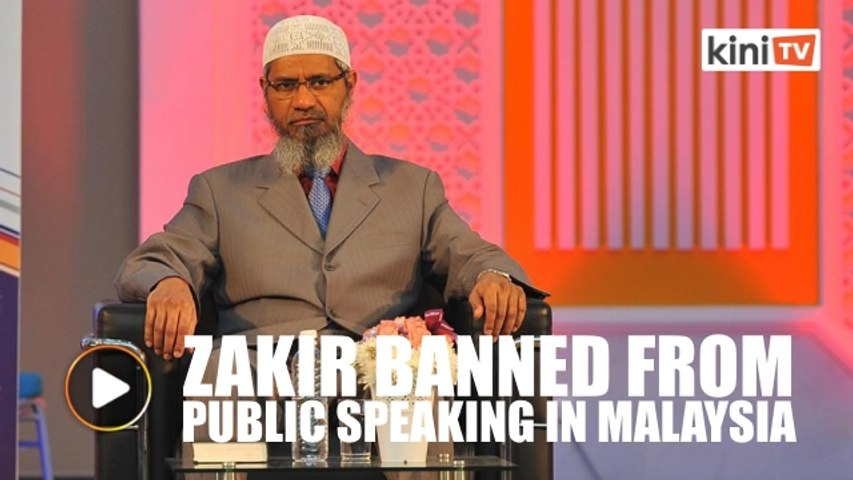 Zakir banned from giving speeches in Malaysia