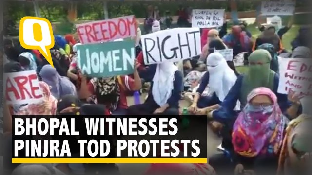 RIE Bhopal Witnesses #PinjraTod Protest by Women Students