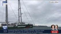 Greenpeace part en guerre contre le nucléaire et proteste contre les rejets en mer de déchets radioactifs