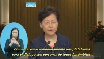 """El Gobierno de Hong Kong anuncia una """"plataforma de diálogo"""" ante protestas"""