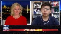 20/08/2019: Hoàng Chi Phong ( Joshua Wong Chi Fong ) trả lời phỏng vấn trực tiếp với phóng viên Shannon Bream trực tiếp trên kênh truyền hình Fox News của Mỹ