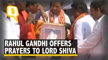 Rahul Gandhi offers prayers to Lord Shiva in Amethi