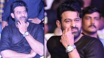 Prabhas Appeared With Costly Watch In Saaho Pre Release Event    Filmibeat Telugu