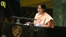 Sushma Swaraj At UNGA: 'Developing, Underdeveloped States the Biggest Victims of Climate Change'
