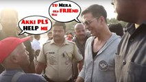 Respect !AKSHAY KUMAR Suddenly Met his POOR OLD Friend & Chk How He Treated Him