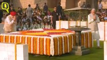 PM Modi Pays Tribute At Rajghat on 150th Birth Anniversary of Mahatma Gandhi