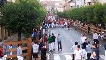 Ambiente previo al último encierro de Tafalla con los Gateros y Txistularis de la localidad