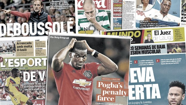L'Angleterre s'en prend à Paul Pogba pour son pénalty raté, le Barça s'inquiète après la nouvelle blessure d'Ousmane Dembélé