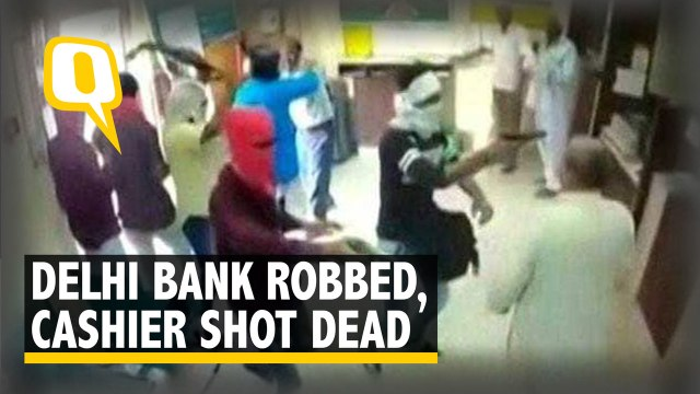 Caught On Camera: Bank Robbed in Delhi, Rs 3 Lakh Looted, Cashier Shot Dead