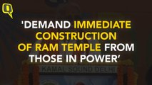 'Ram Temple Is More Important Than Development and Jobs'